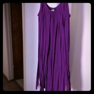 Fuscia tassel dress